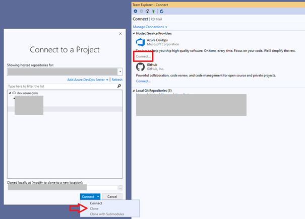 Azure DevOps cloning repository Step 2